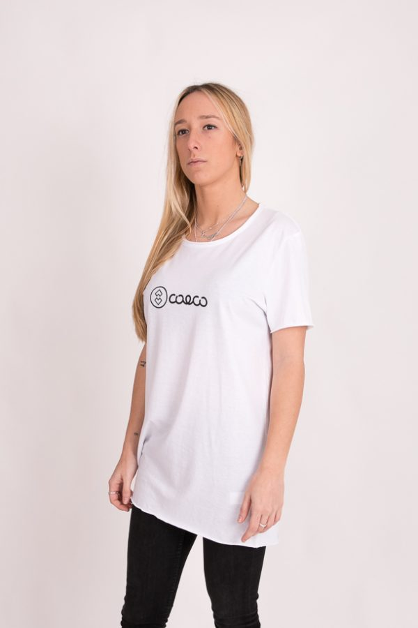 Camiseta simple long white